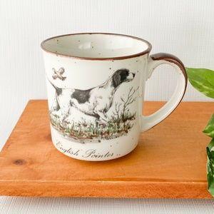 Vintage English Pointer Speckled Ceramic Coffee